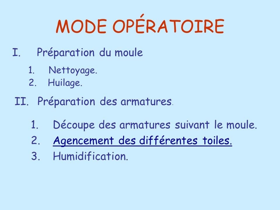 MODE OPÉRATOIRE 2.