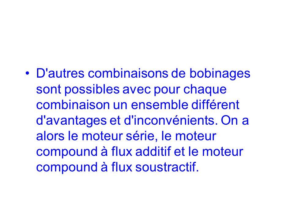D'autres combinaisons de bobinages sont possibles avec pour chaque combinaison un ensemble différent d'avantages et d'inconvénients. On a alors le mot