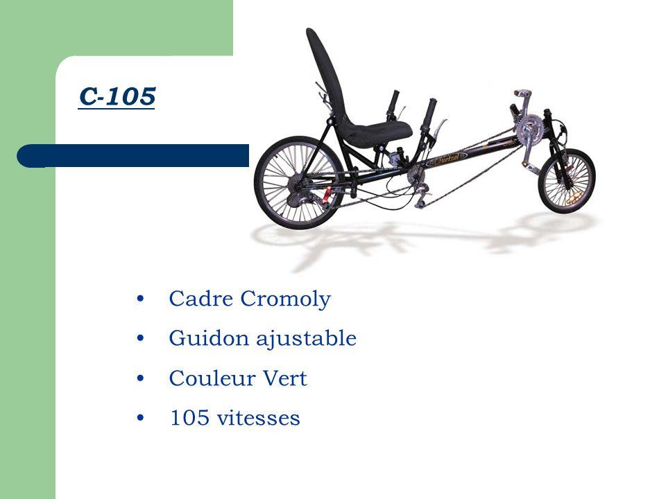 Cadre Cromoly Guidon ajustable Couleur Vert 105 vitesses C-105
