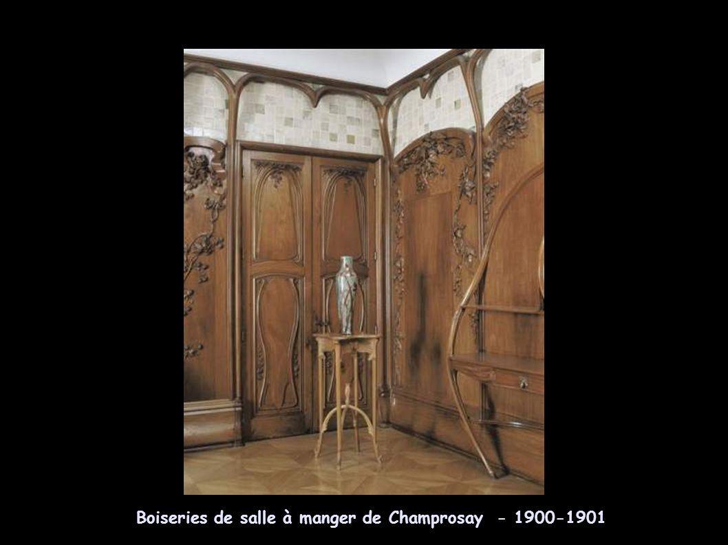 Emile Gallé – banquette aux ombelles 1902