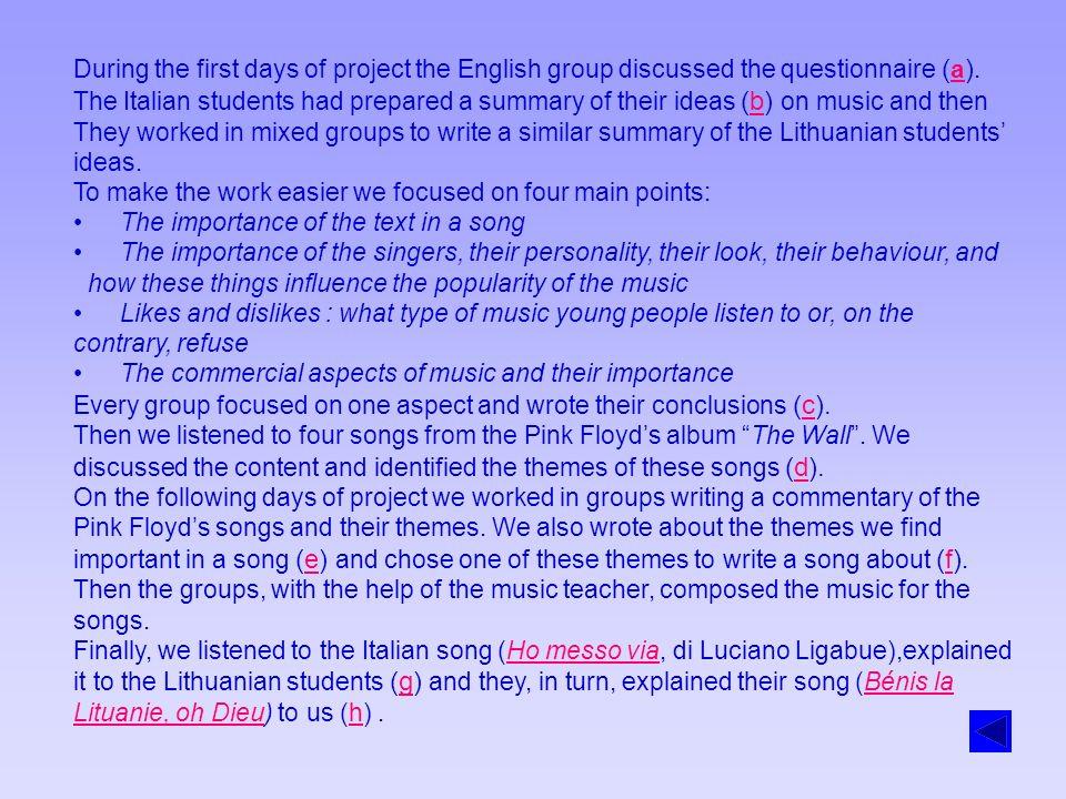 Analyse de la chanson italienne Jai mis de côté Luciano LigabueLuciano Ligabue Pour ce projet, nous avons analysé la chanson de Luciano Ligabue « ho messo via » en français « jai mis de côté ».
