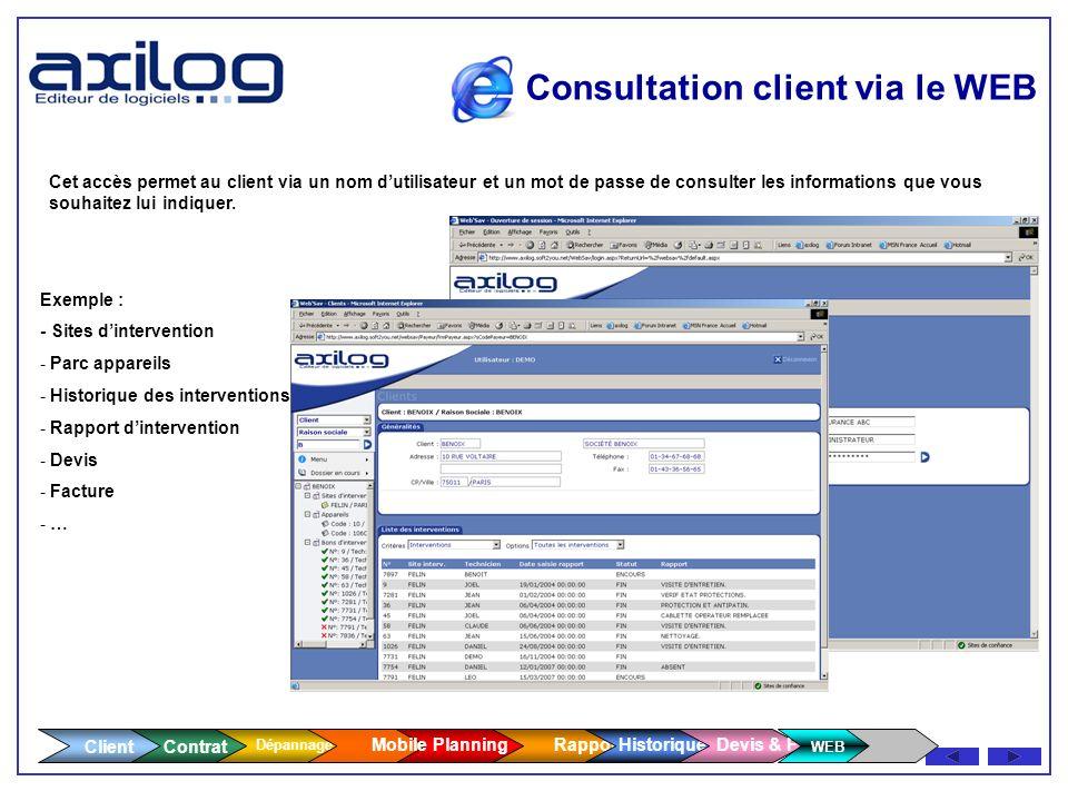 Client Contrat Dépannage Facturation des pièces - Recherche multicritères, import depuis les données fournisseurs - Rattachement à un chantier - Possi