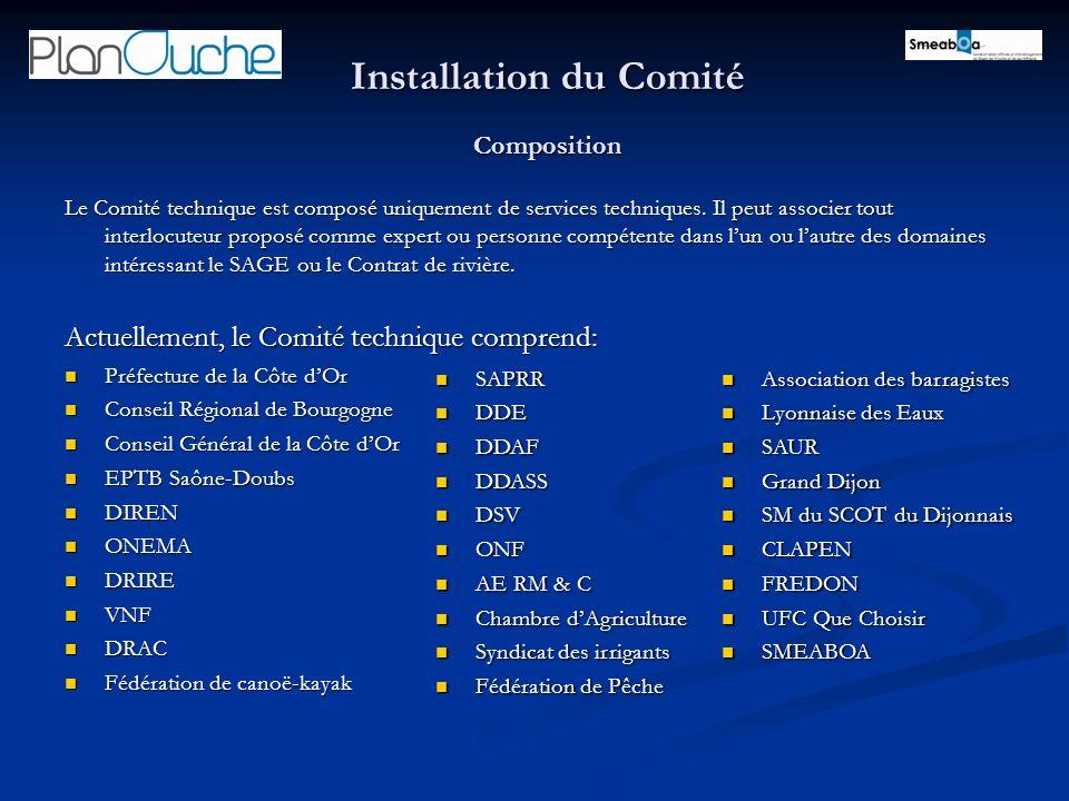 Installation du Comité Composition Le Comité technique est composé uniquement de services techniques. Il peut associer tout interlocuteur proposé comm