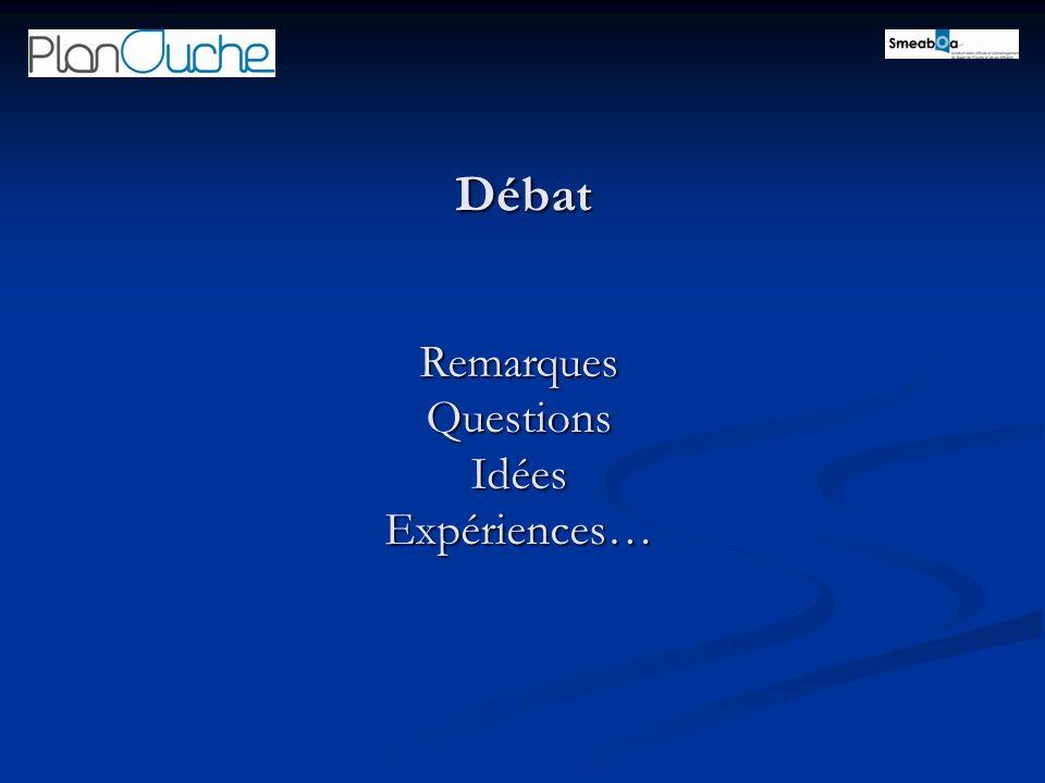 Débat Remarques Questions Idées Expériences…