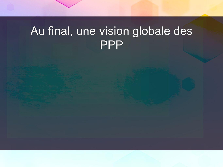 Au final, une vision globale des PPP