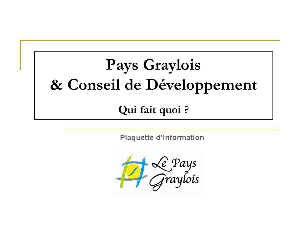Pays Graylois & Conseil de Développement Qui fait quoi ? Plaquette dinformation
