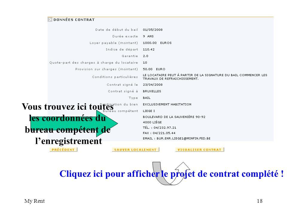 My Rent18 Cliquez ici pour afficher le projet de contrat complété .