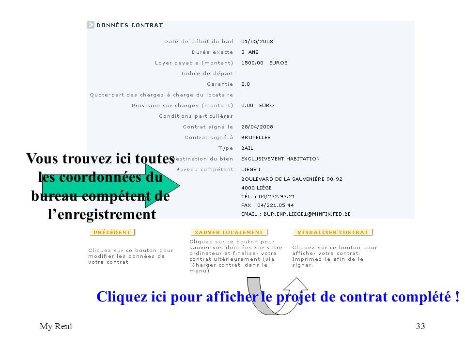 My Rent33 Vous trouvez ici toutes les coordonnées du bureau compétent de lenregistrement Cliquez ici pour afficher le projet de contrat complété !