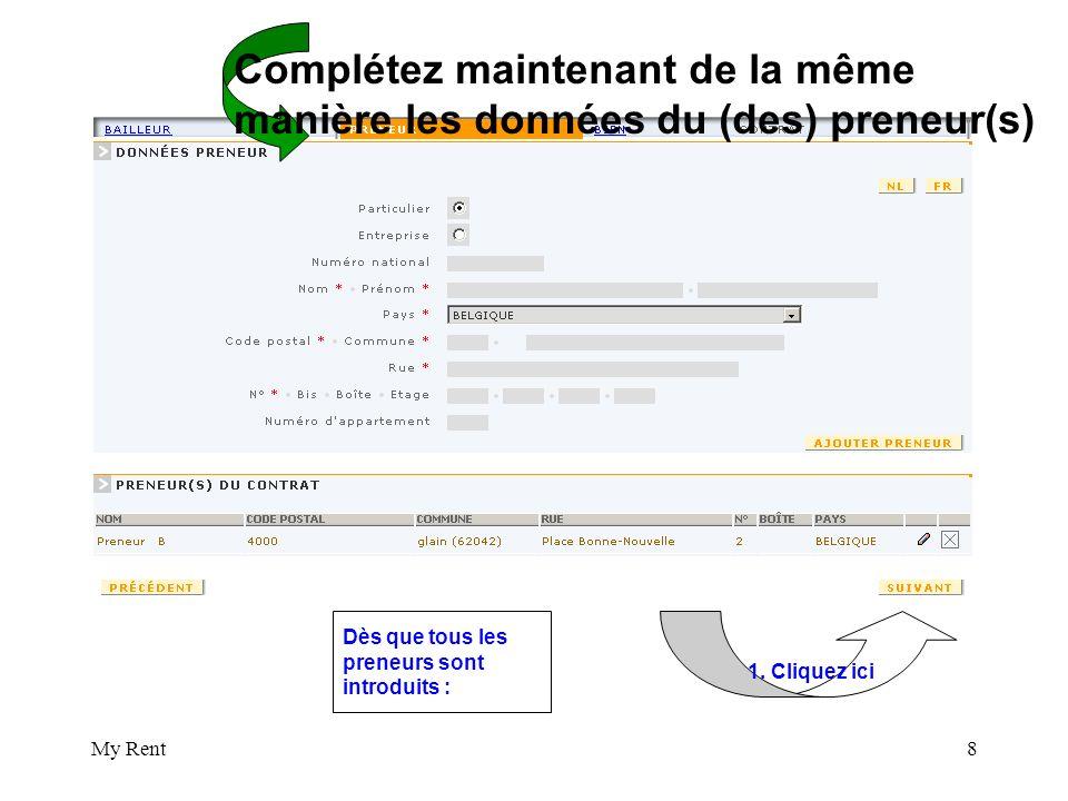 My Rent19 Imprimez le contrat affiché en format pdf et choisissez parmi les possibilités prévues à partir de la page 35 (3 options)