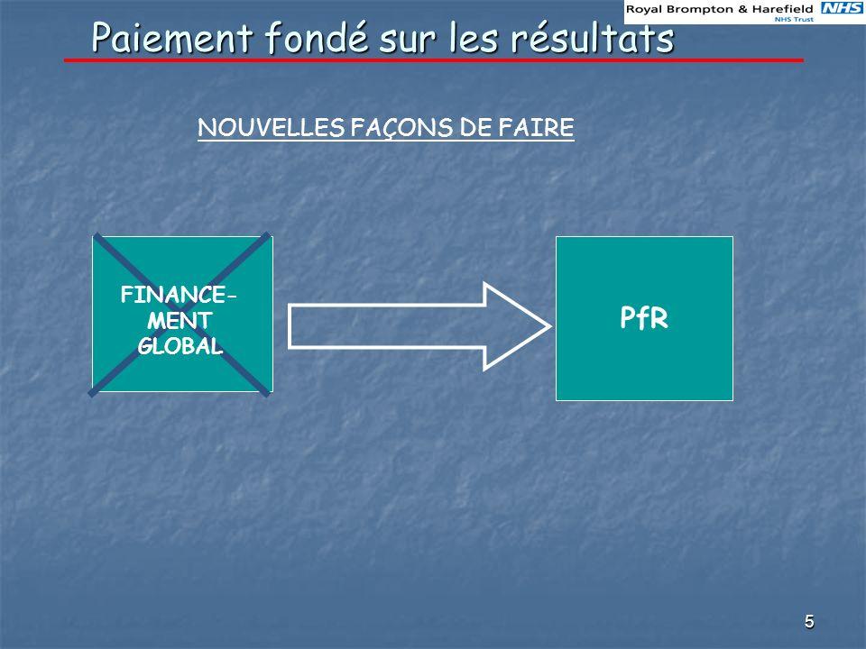 5 Paiement fondé sur les résultats NOUVELLES FAÇONS DE FAIRE PfR FINANCE- MENT GLOBAL