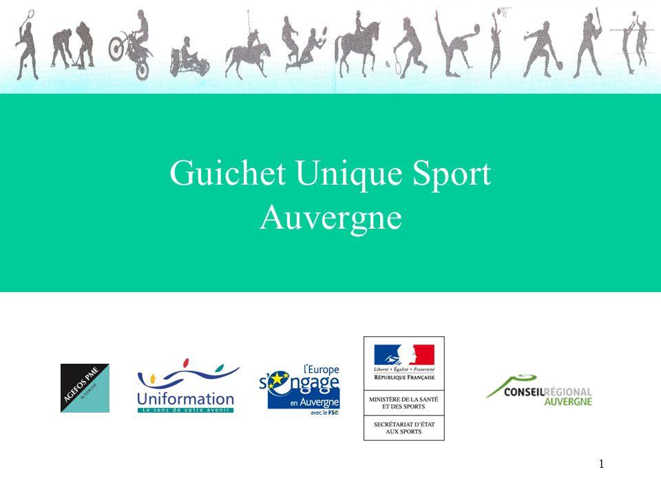 1 Guichet Unique Sport Auvergne