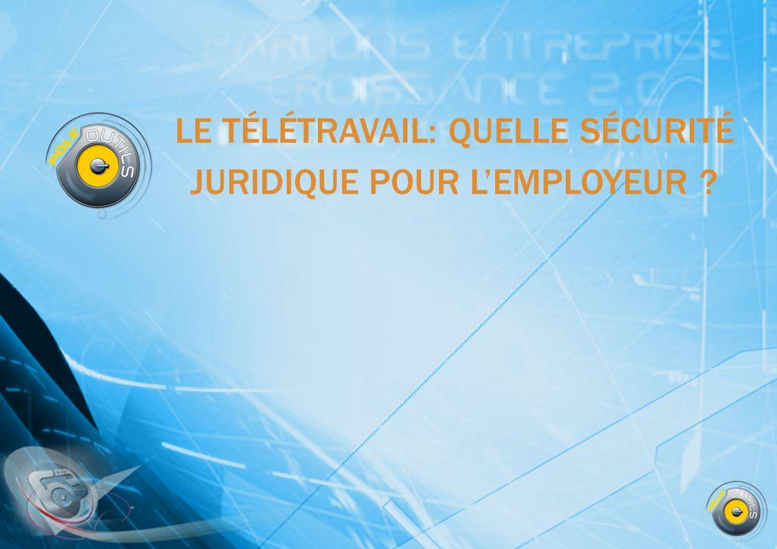 TÉLÉTRAVAIL EN FRANCE, LE TÉLÉTRAVAIL CONCERNE ENVIRON 7% DE LA POPULATION ACTIVE SALARIÉE (13% EN MOYENNE EN EUROPE) Obstacles au développement du télétravail Absence de réversibilité de la situation Lemployeur qui accepte le télétravail ne peut ensuite changer doption et imposer au salarié de venir travailler dans lentreprise Absence de contrôle de la durée du travail du salarié par lemployeur Les règles légales sur la durée du travail simposent à lemployeur La rémunération est fixée par rapport à la durée du travail