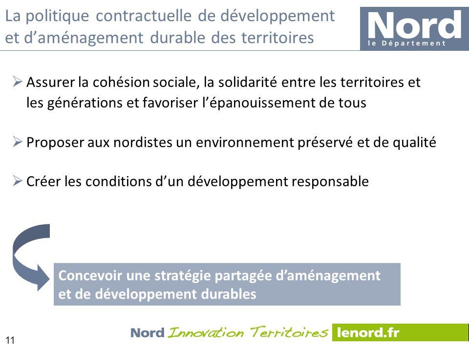 11 La politique contractuelle de développement et daménagement durable des territoires Assurer la cohésion sociale, la solidarité entre les territoire
