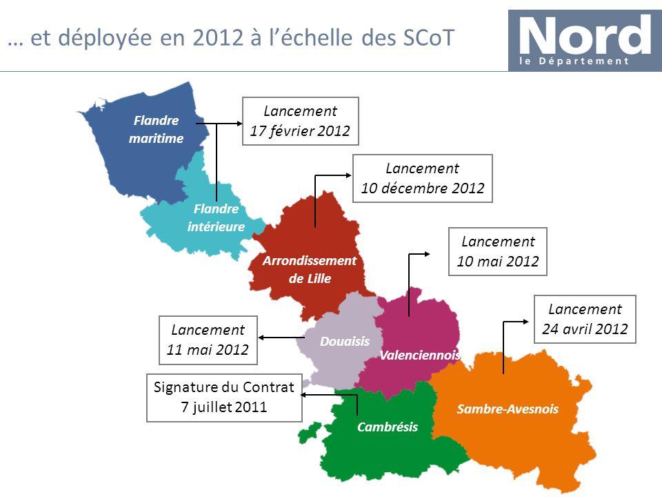 20 … et déployée en 2012 à léchelle des SCoT Signature du Contrat 7 juillet 2011 Cambrésis Sambre-Avesnois Valenciennois Douaisis Arrondissement de Li