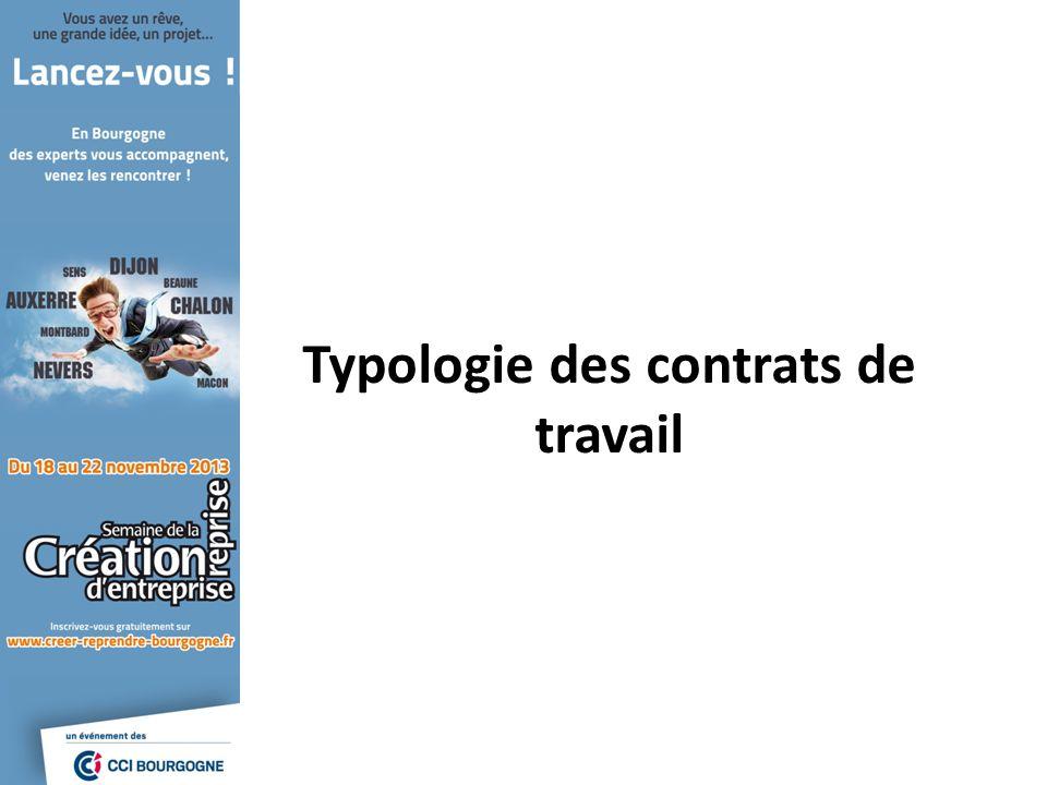 Typologie des contrats de travail