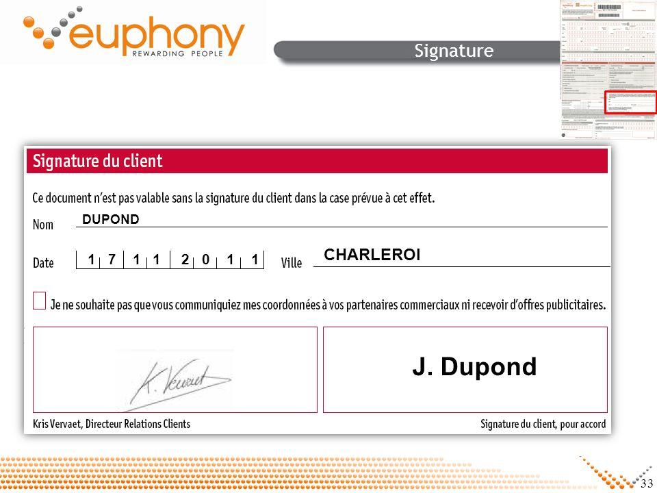 33 Signature DUPOND CHARLEROI 1 7 1 1 2 0 1 1 J. Dupond
