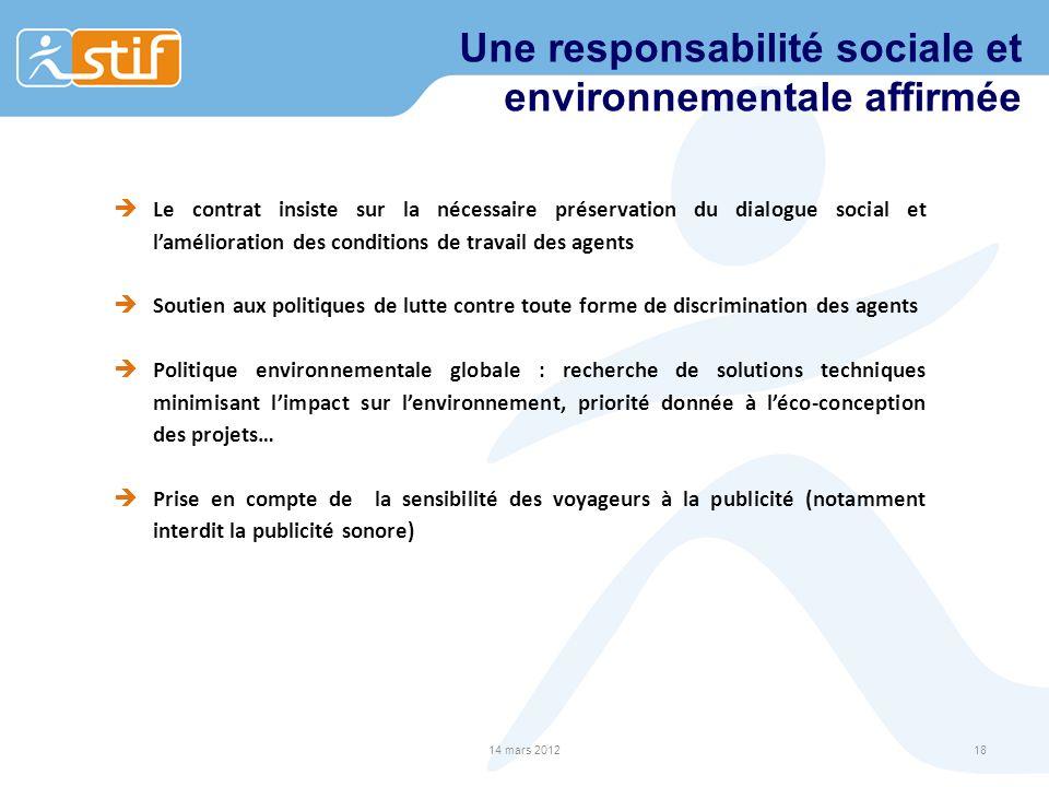 Le contrat insiste sur la nécessaire préservation du dialogue social et lamélioration des conditions de travail des agents Soutien aux politiques de l