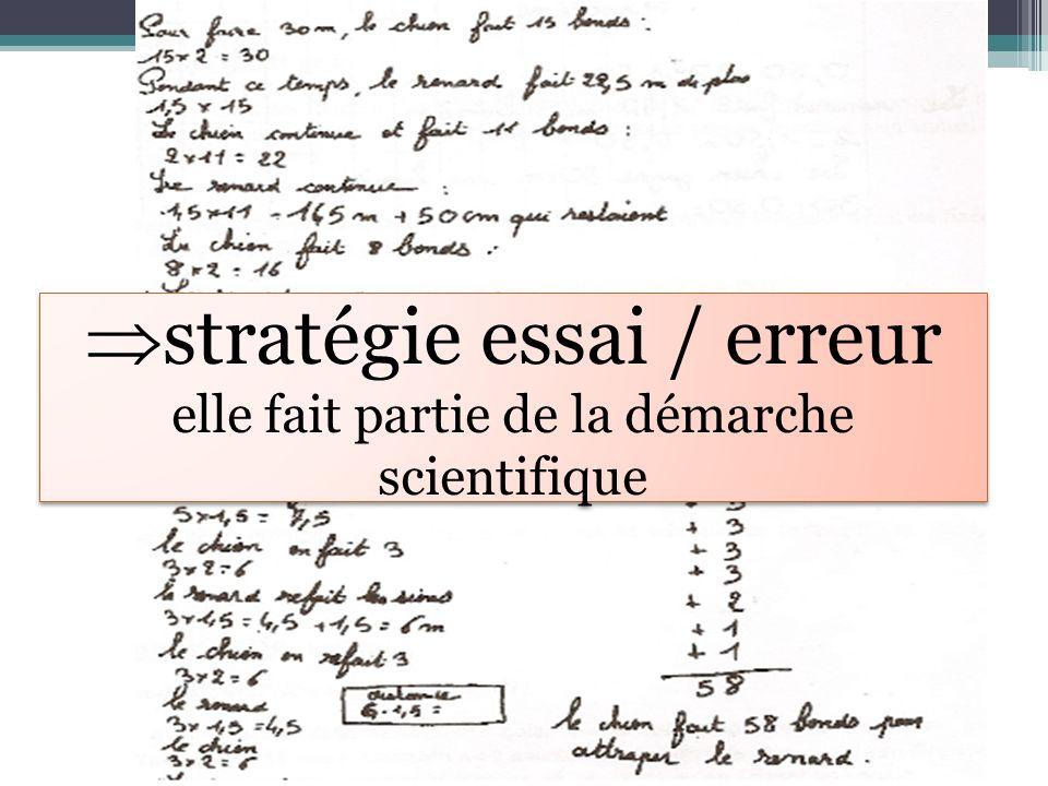 stratégie essai / erreur elle fait partie de la démarche scientifique stratégie essai / erreur elle fait partie de la démarche scientifique