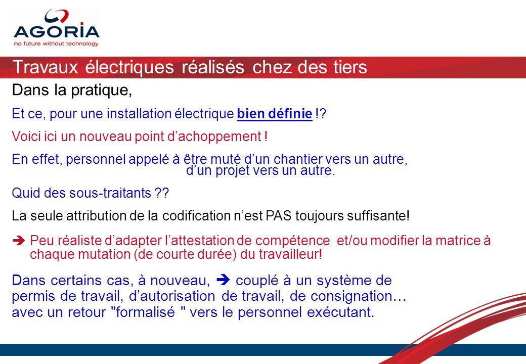 Travaux électriques réalisés chez des tiers Dans la pratique, Et ce, pour une installation électrique bien définie !? Voici ici un nouveau point dacho