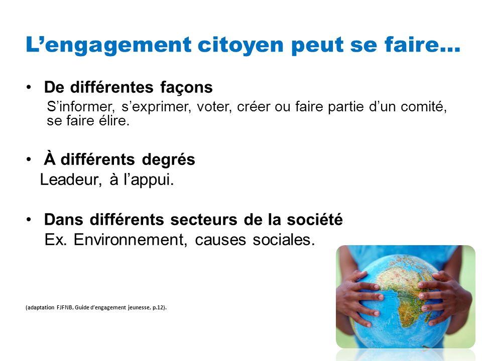 Fiers francophones, citoyens engagés…