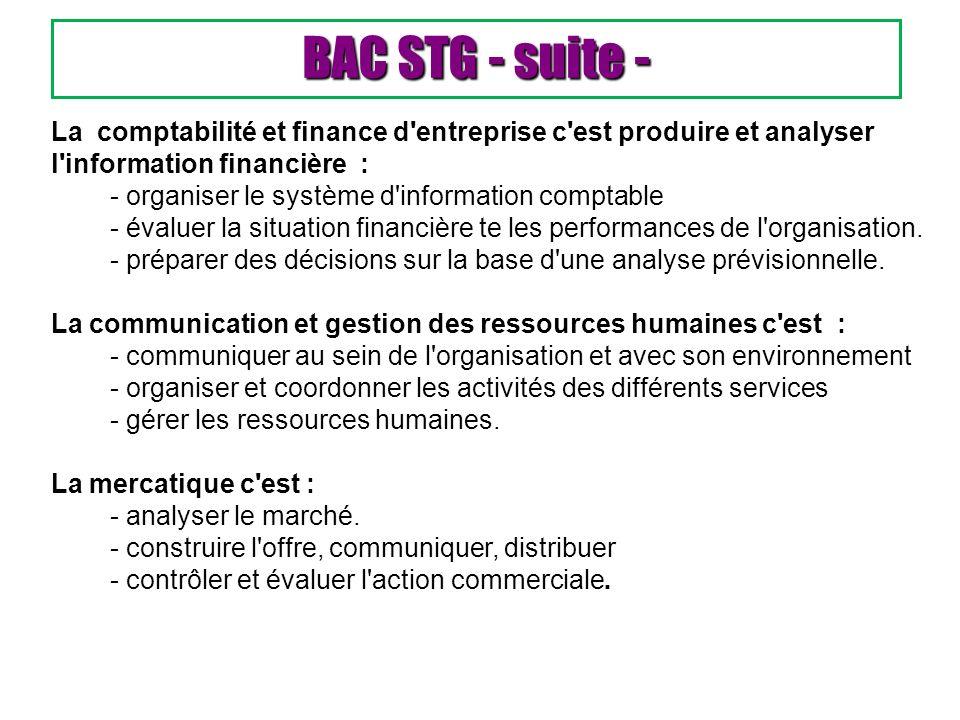 La comptabilité et finance d'entreprise c'est produire et analyser l'information financière : - organiser le système d'information comptable - évaluer