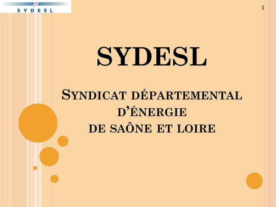 SYDESL S YNDICAT DÉPARTEMENTAL D ÉNERGIE DE SAÔNE ET LOIRE 1