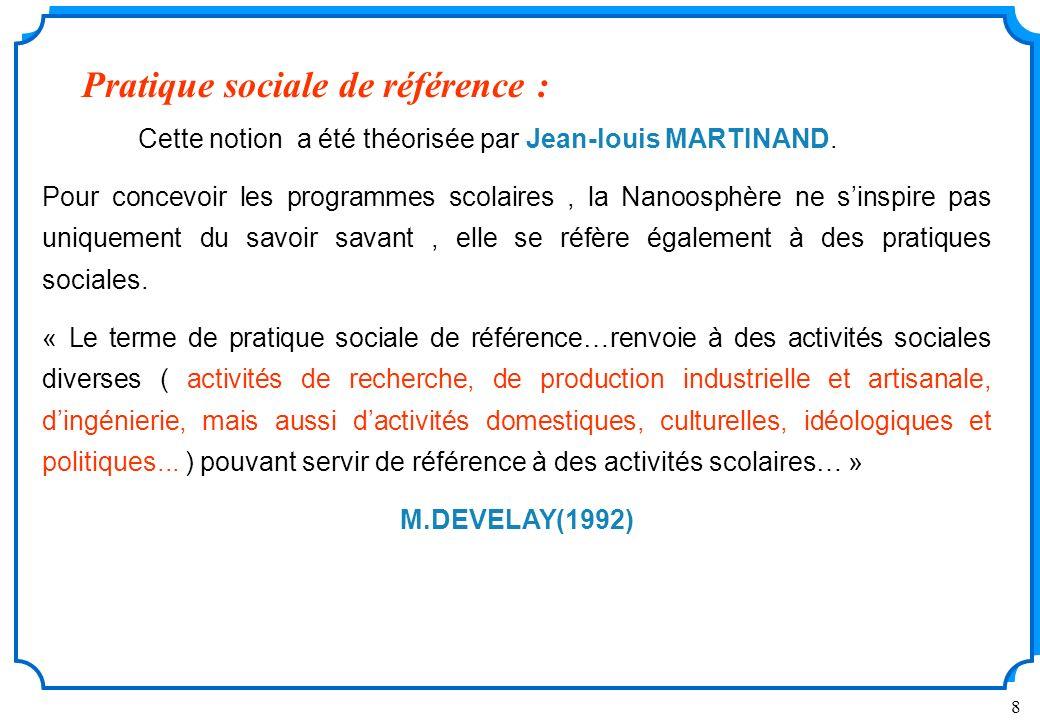 8 Cette notion a été théorisée par Jean-louis MARTINAND.