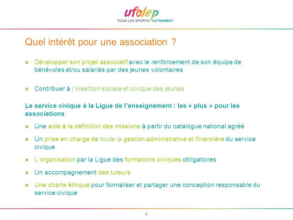 5 La charte du service civique à la Ligue En accueillant un volontaire, lassociation sengage, aux côtés de la Ligue, à : 1.