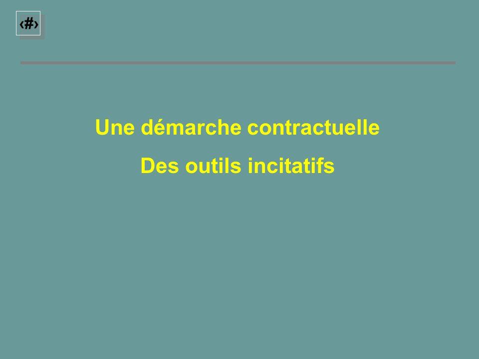 10 Une démarche contractuelle Des outils incitatifs