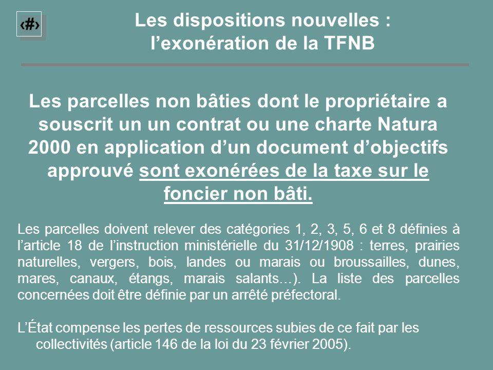 12 LÉtat compense les pertes de ressources subies de ce fait par les collectivités (article 146 de la loi du 23 février 2005). Les dispositions nouvel