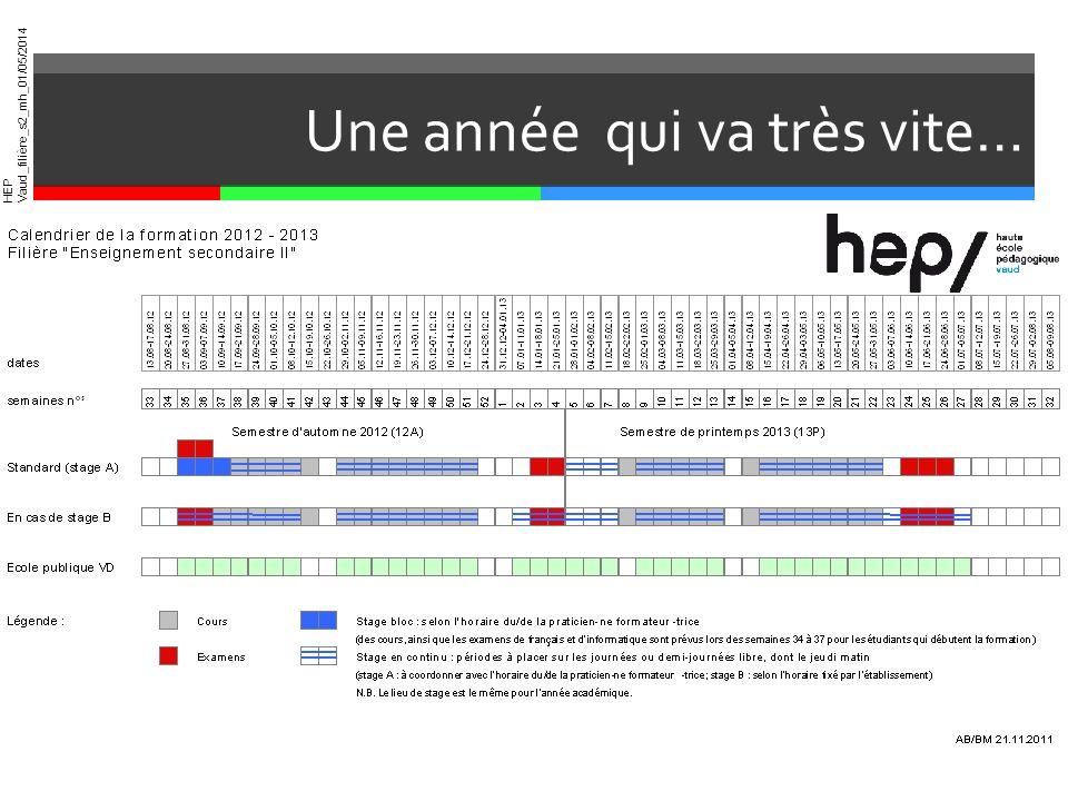 HEP Vaud_filière_s2_mh_01/05/2014 Une année qui va très vite…