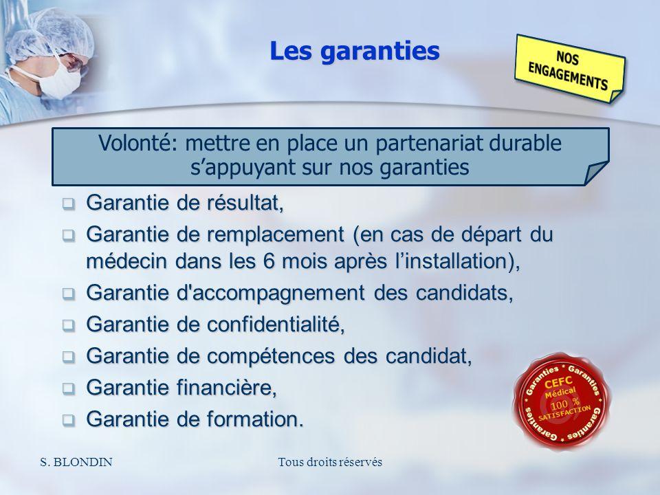 S. BLONDINTous droits réservés Volonté: mettre en place un partenariat durable sappuyant sur nos garanties Garantie de résultat, Garantie de résultat,