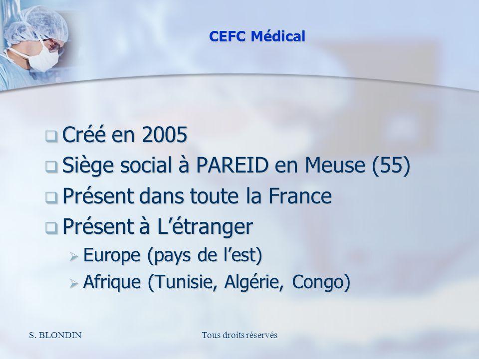 S. BLONDINTous droits réservés Créé en 2005 Créé en 2005 Siège social à PAREID en Meuse (55) Siège social à PAREID en Meuse (55) Présent dans toute la