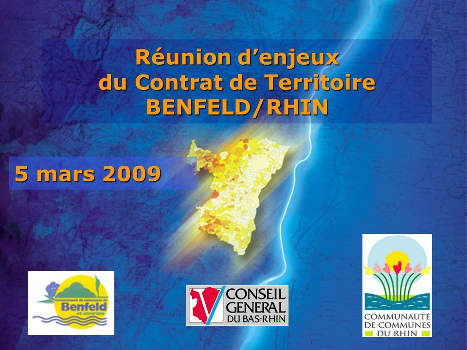 5 mars 2009 Réunion denjeux du Contrat de Territoire BENFELD/RHIN