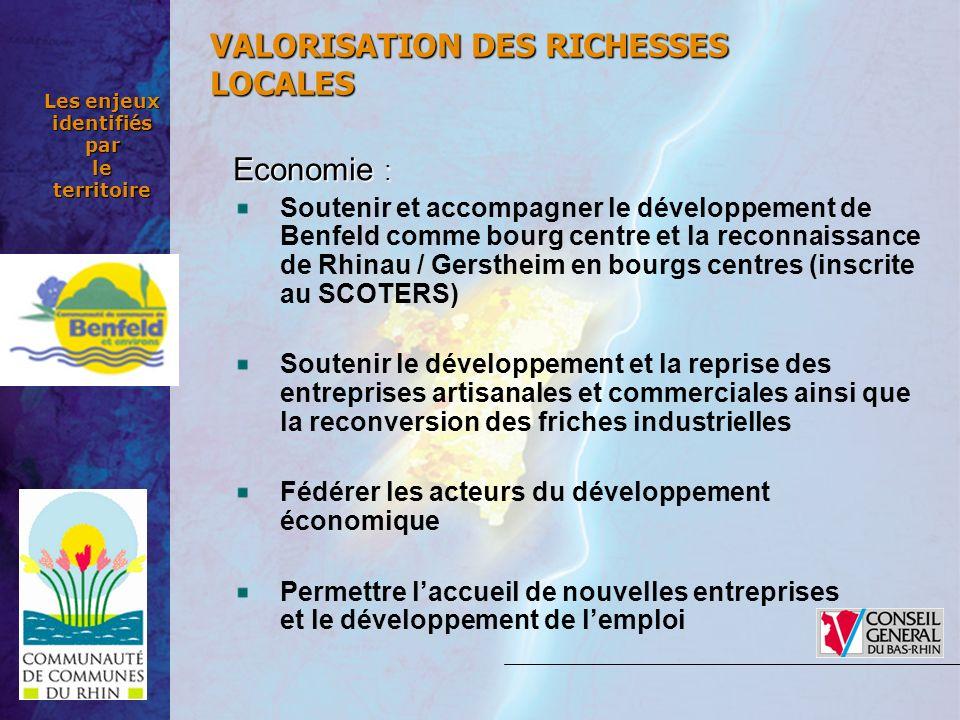 Economie : Soutenir et accompagner le développement de Benfeld comme bourg centre et la reconnaissance de Rhinau / Gerstheim en bourgs centres (inscri