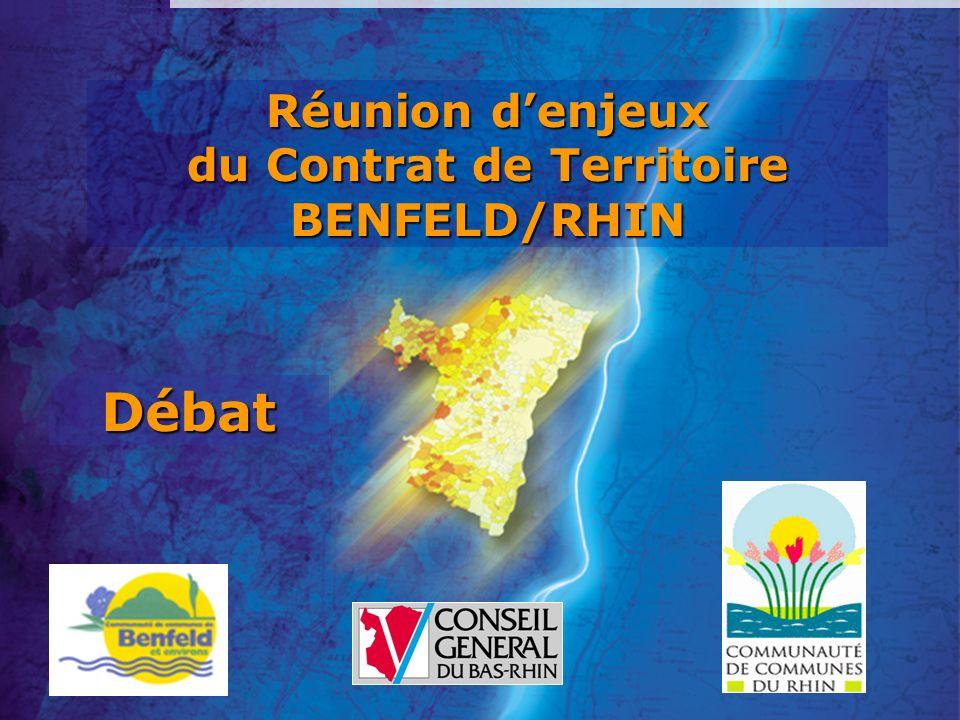 Réunion denjeux du Contrat de Territoire BENFELD/RHIN Débat
