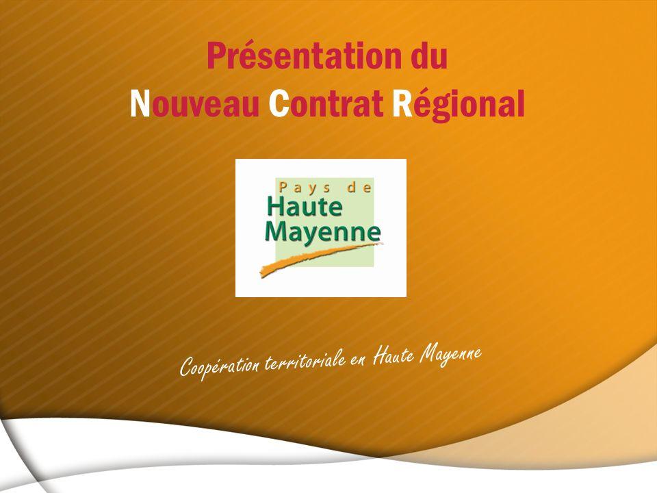 Présentation du Nouveau Contrat Régional Coopération territoriale en Haute Mayenne