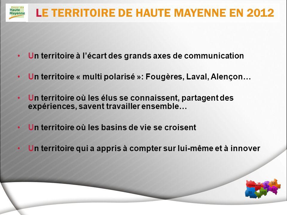Un territoire à lécart des grands axes de communication Un territoire « multi polarisé »: Fougères, Laval, Alençon… Un territoire où les élus se conna