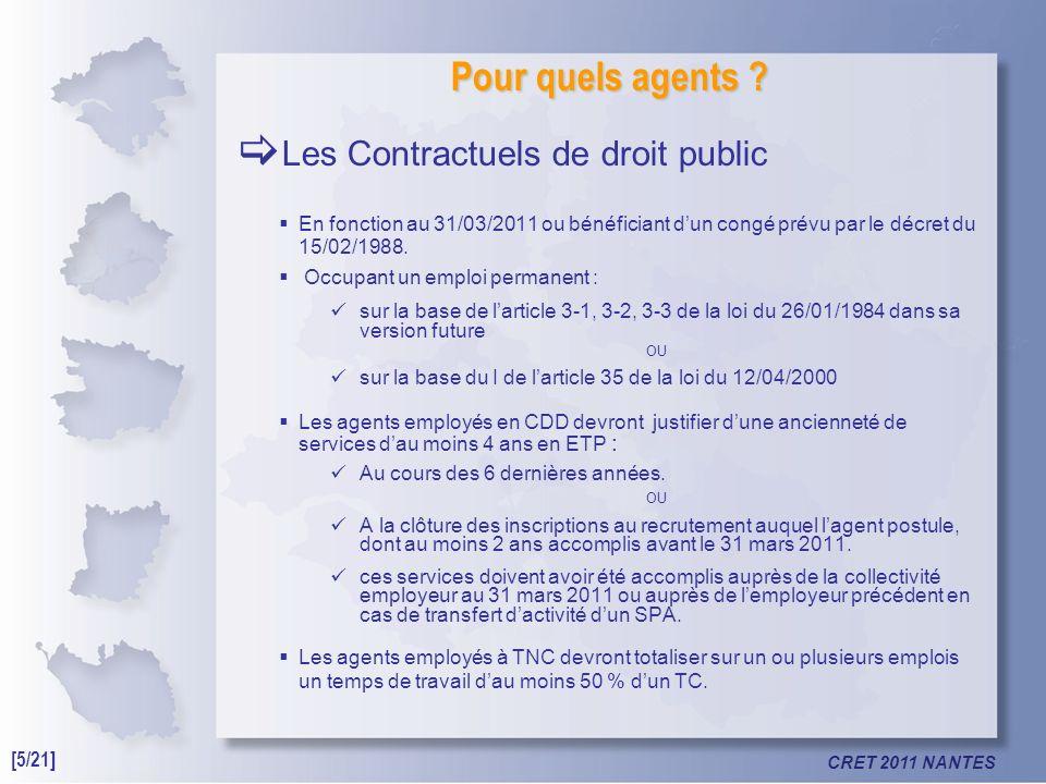 CRET 2011 NANTES Pour quels agents .