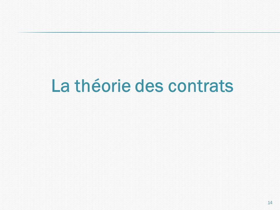 La théorie des contrats 14