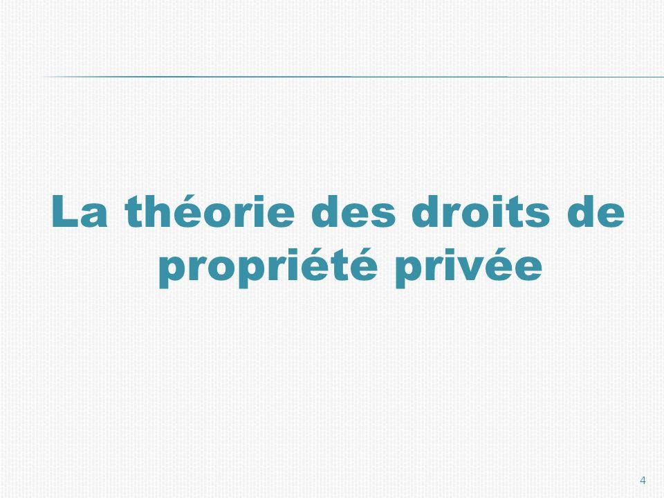 La théorie des droits de propriété privée 4
