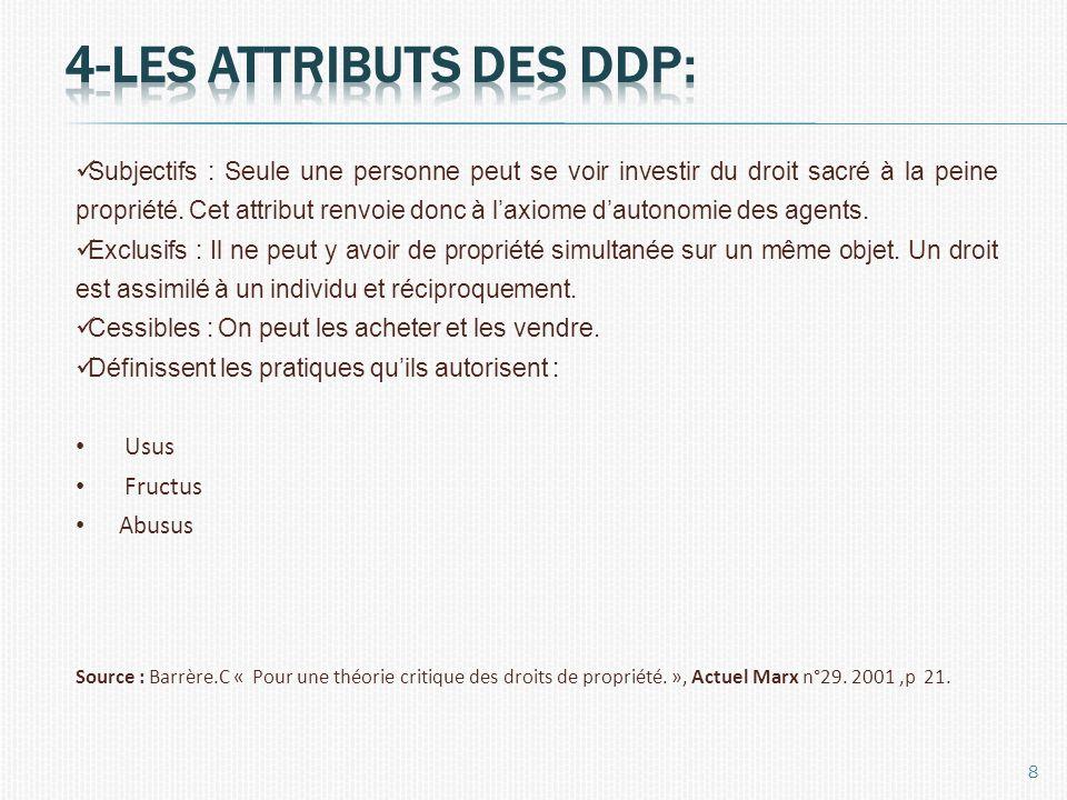Les caractéristiques mises en lumière précédemment permettent de décrire plusieurs formes dentreprises selon que les caractéristiques des DDP attachées celles-ci sont présentes ou non.