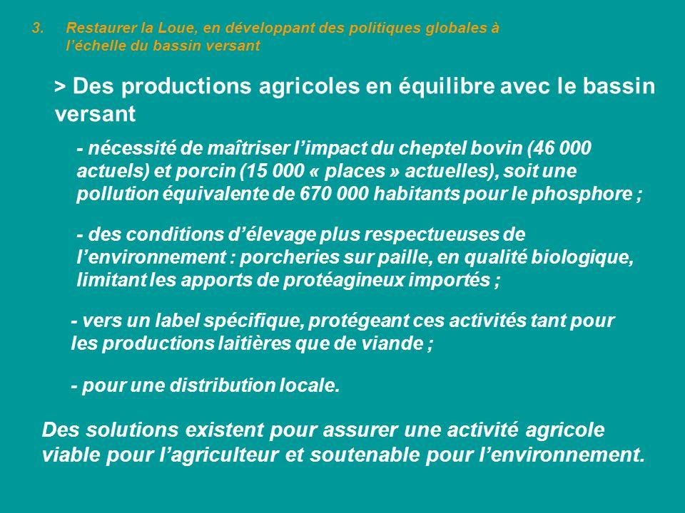 > Des productions agricoles en équilibre avec le bassin versant - des conditions délevage plus respectueuses de lenvironnement : porcheries sur paille
