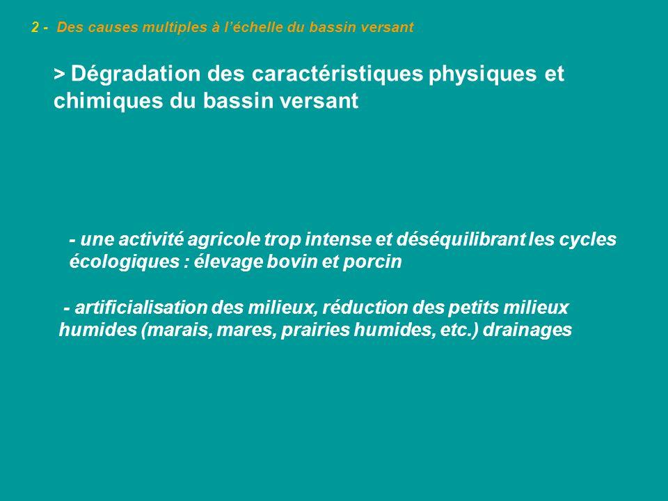 2 - Des causes multiples à léchelle du bassin versant Contrat de rivière Loue - 2000