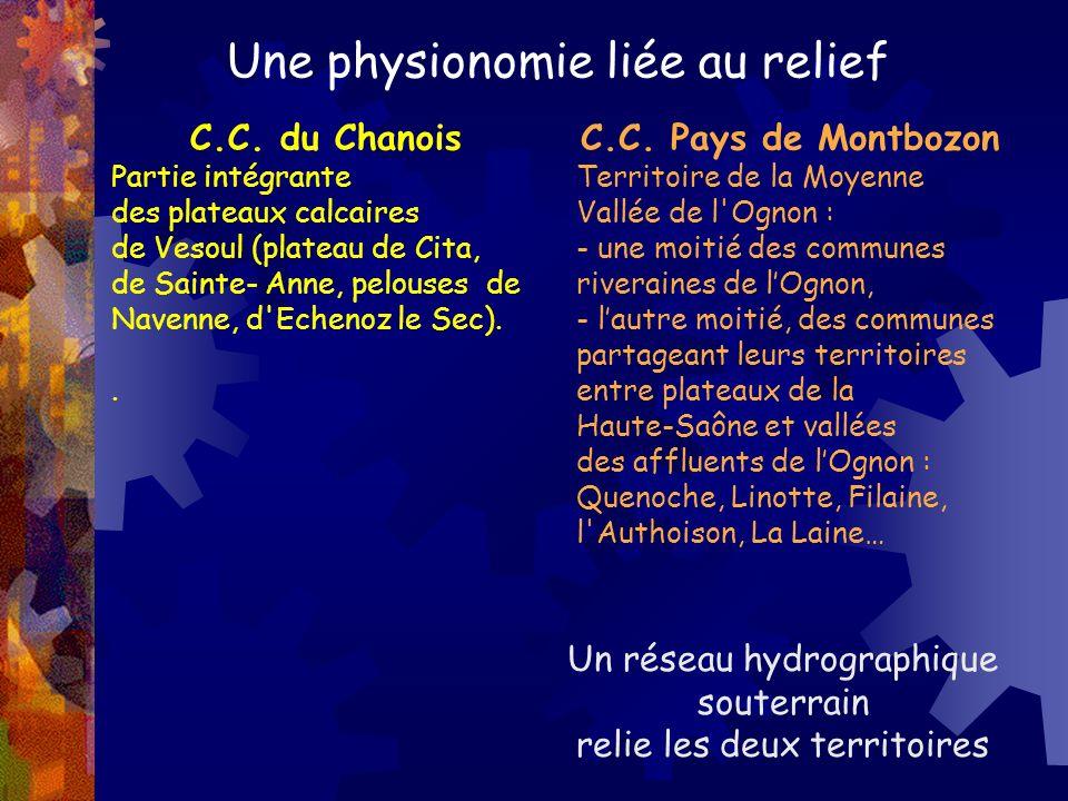 Une physionomie liée au relief C.C. du Chanois Partie intégrante des plateaux calcaires de Vesoul (plateau de Cita, de Sainte- Anne, pelouses de Naven