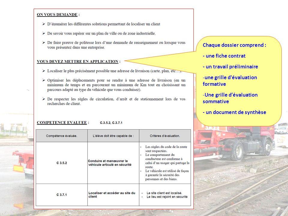 Bac Pro Réparation des Carrosseries Repère pour la formation Chaque dossier comprend : - une fiche contrat - un travail préliminaire -une grille d'éva