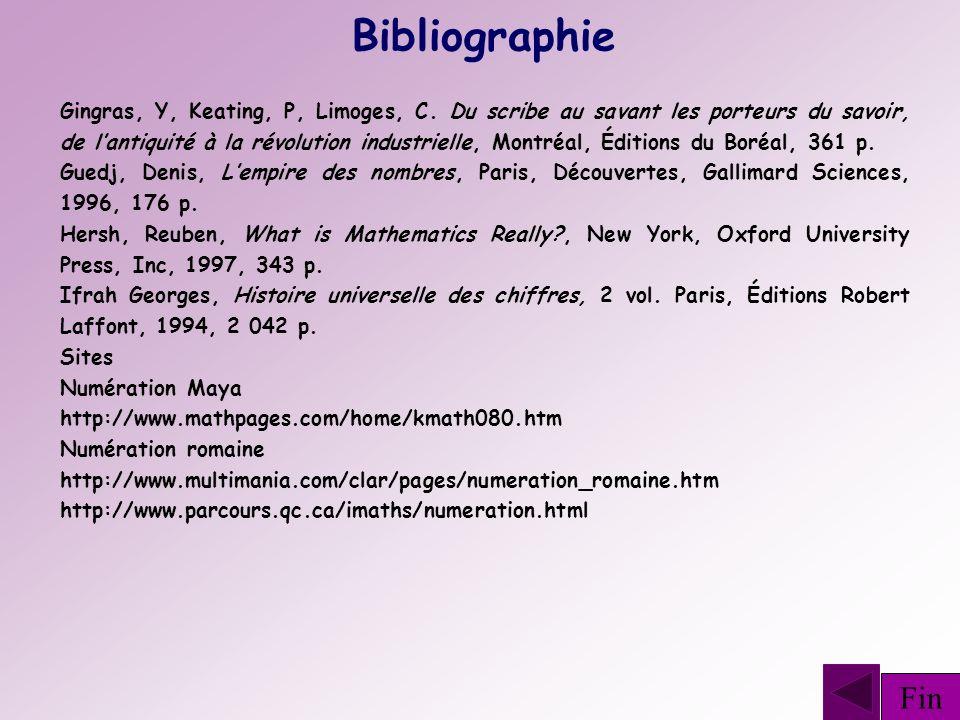 Bibliographie Gingras, Y, Keating, P, Limoges, C. Du scribe au savant les porteurs du savoir, de lantiquité à la révolution industrielle, Montréal, Éd