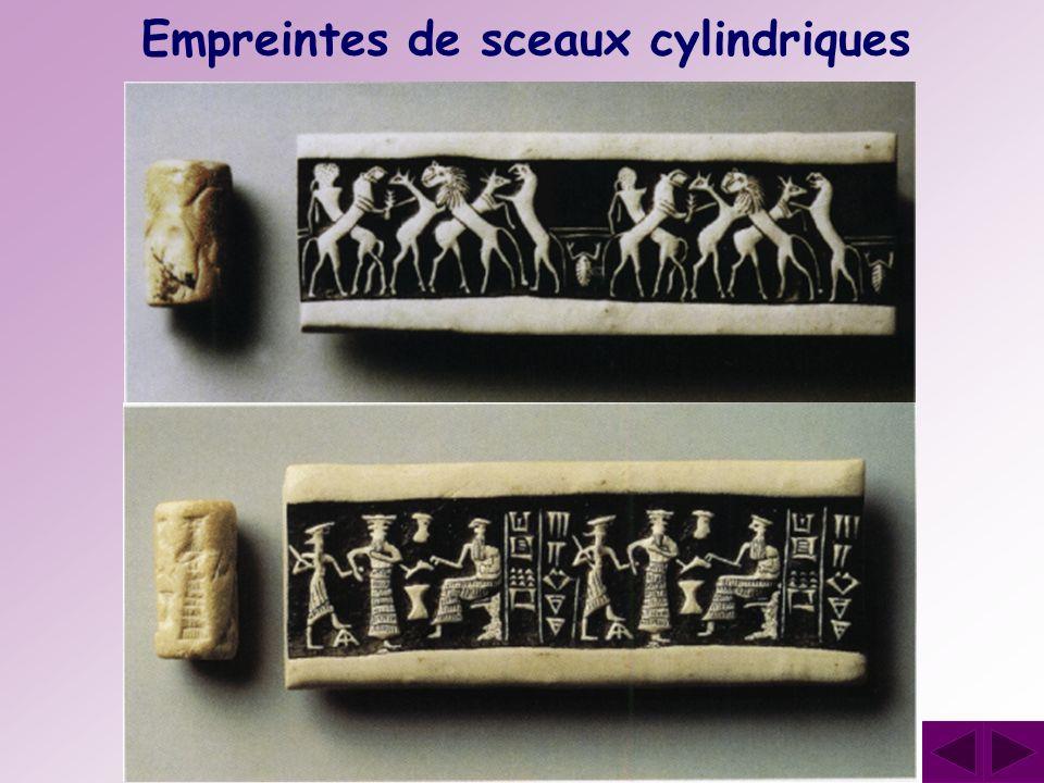 Empreintes de sceaux cylindriques