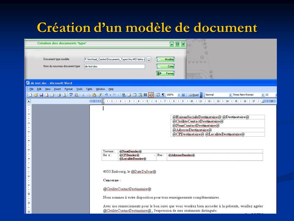 Création dun modèle de document