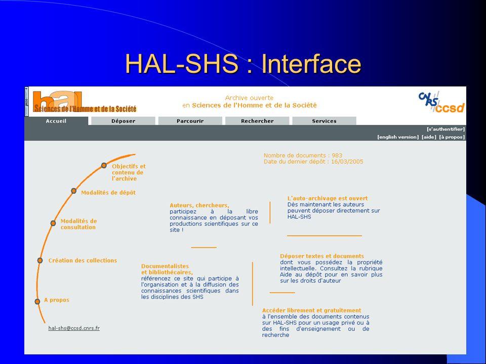 HAL-SHS : Interface